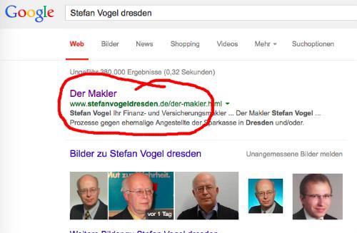 Google-Screenshot vom 22.2.2015
