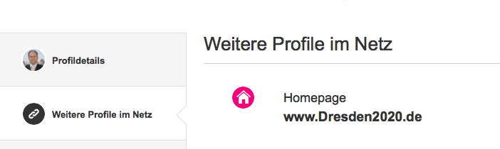 Ausriss von Dirk Hilberts Xing-Profil, Stand: 5.2.2015, 12.34 Uhr.