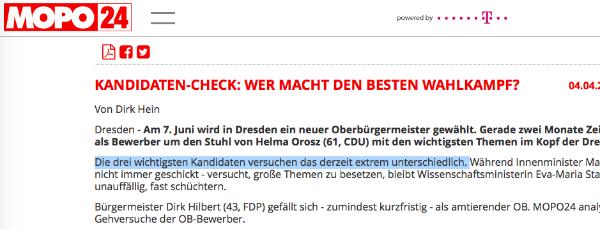 Ausriss von Mopo24.de.