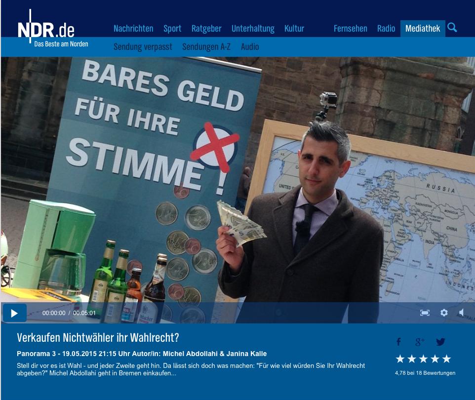 Screenshot von ndr.de